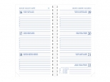 Diary Select Ringplastiek agenda 2021 Guider wit papier