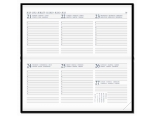 Diary Select Zakagenda 2018 Pointer met Leder Rundbox omslag en wit papier