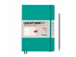 LEUCHTTURM1917 agenda 2021 Medium (A5) Weekly Planner & Notebook Softcover