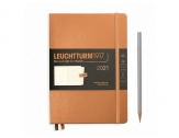 LEUCHTTURM1917 agenda 2021 Medium (A5) Weekly Planner & Notebook METALLIC